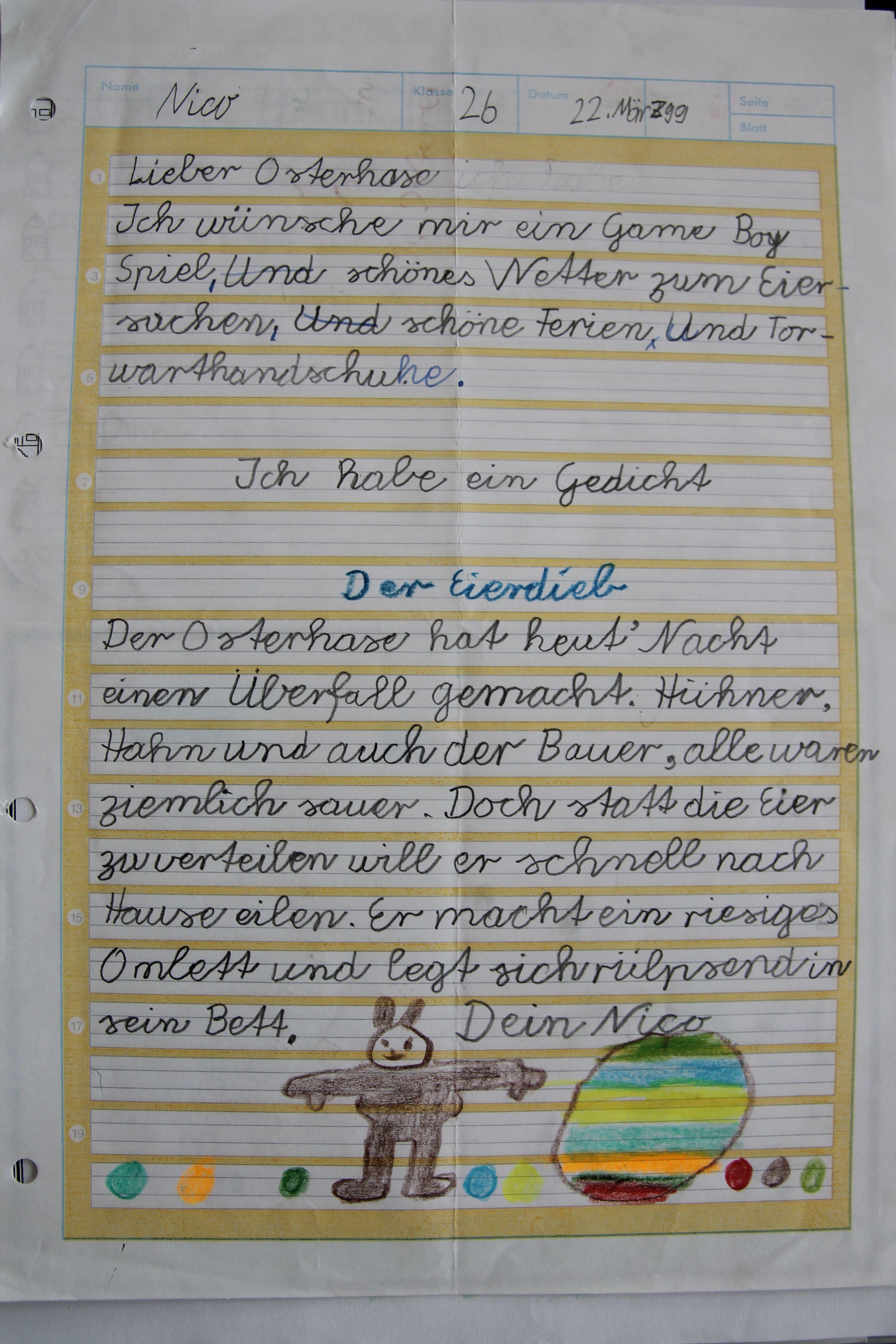 Vorlage Brief An Den Osterhasen Osterhase Brief Briefpapier
